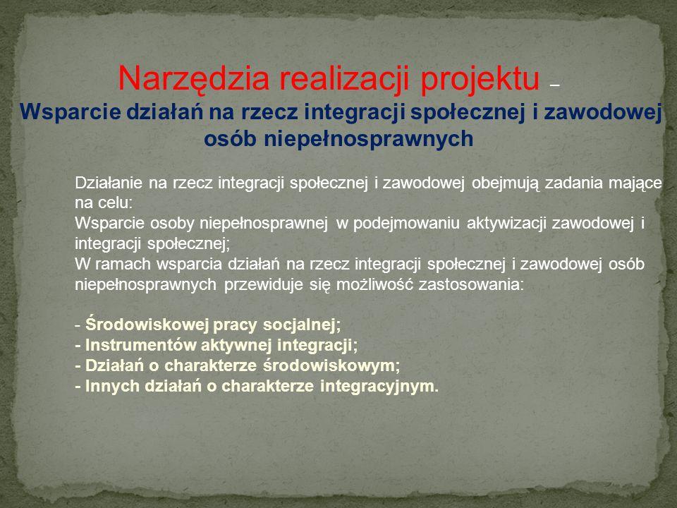 Narzędzia realizacji projektu Kontrakt socjalny – jest pisemną umową pomiędzy osobą korzystającą ze świadczeń pomocy społecznej a pracownikiem socjaln