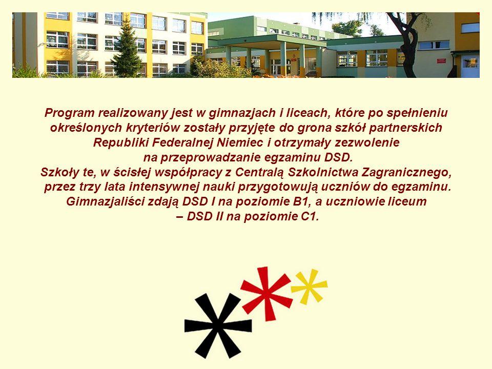 Program realizowany jest w gimnazjach i liceach, które po spełnieniu określonych kryteriów zostały przyjęte do grona szkół partnerskich Republiki Fede