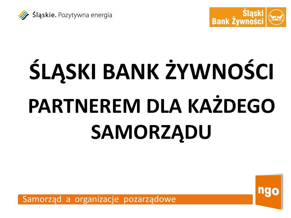 Samorząd a organizacje pozarządowe ŚLĄSKI BANK ŻYWNOŚCI PARTNEREM DLA KAŻDEGO SAMORZĄDU