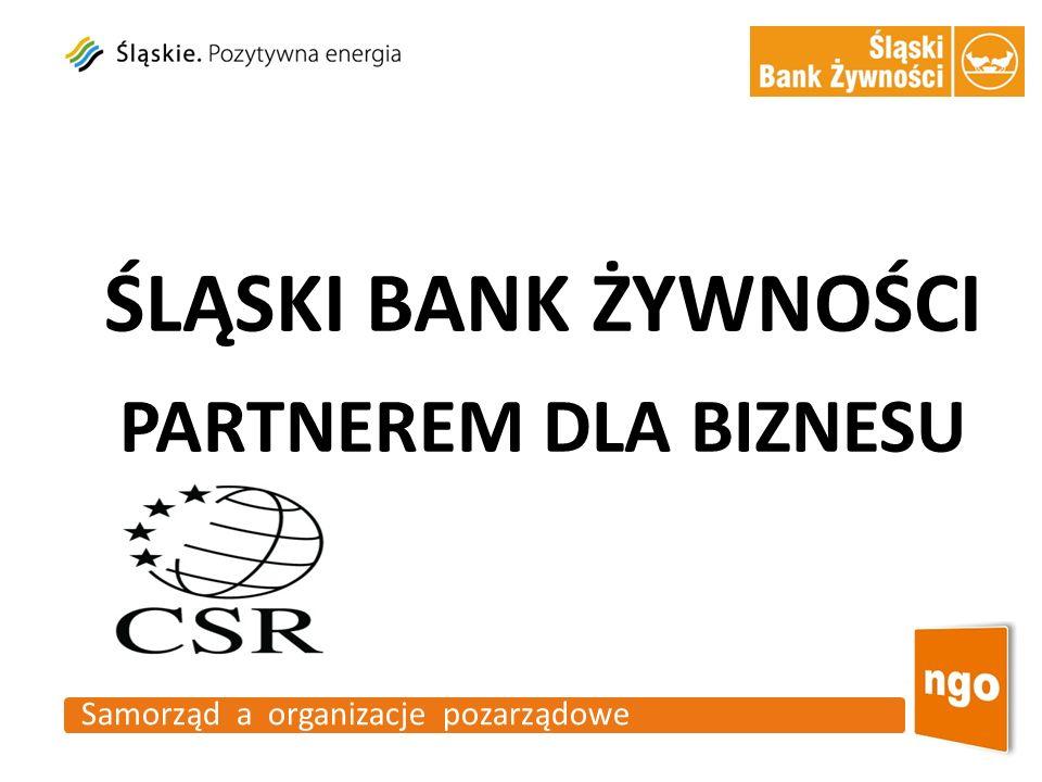 Samorząd a organizacje pozarządowe ŚLĄSKI BANK ŻYWNOŚCI PARTNEREM DLA BIZNESU