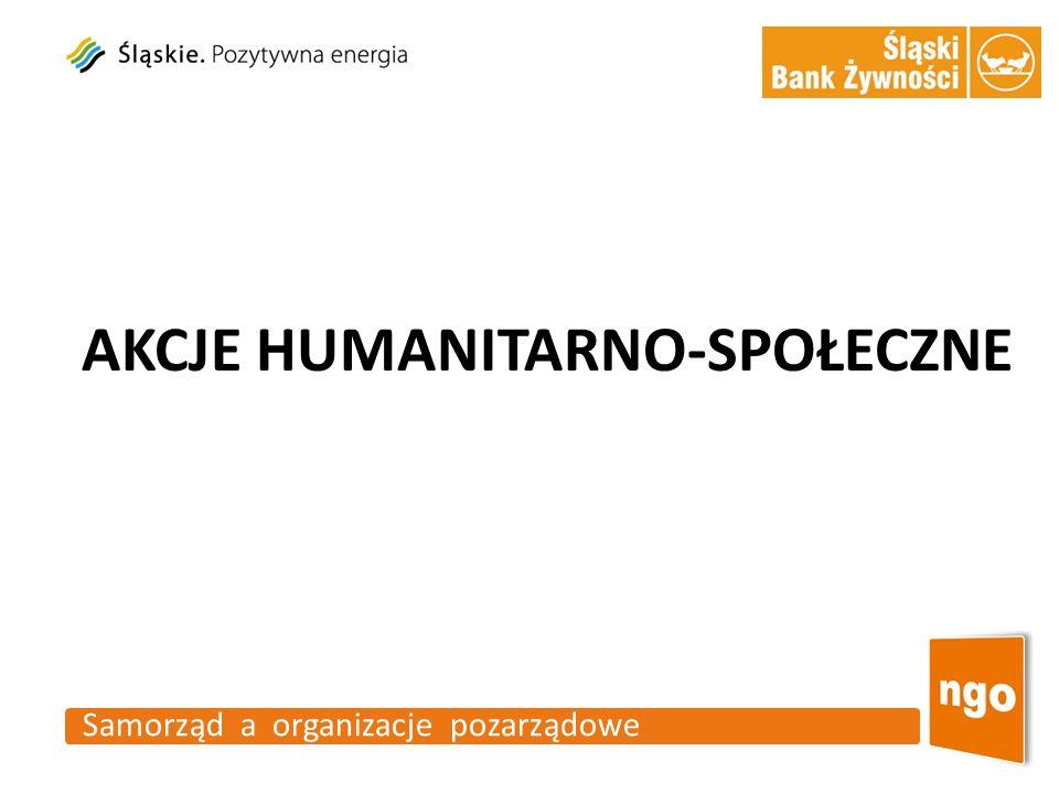 AKCJE HUMANITARNO-SPOŁECZNE Samorząd a organizacje pozarządowe