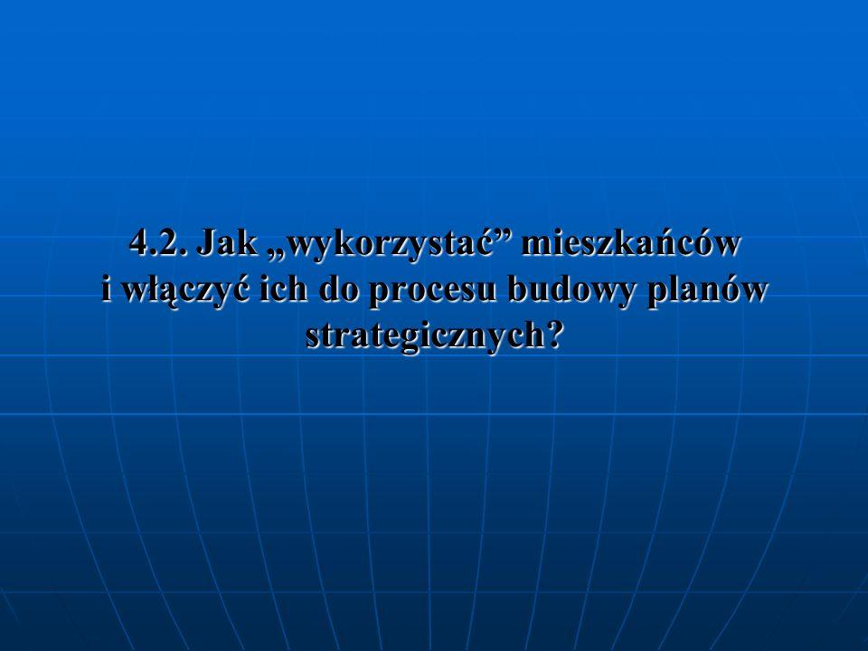 4.2. Jak wykorzystać mieszkańców i włączyć ich do procesu budowy planów strategicznych?