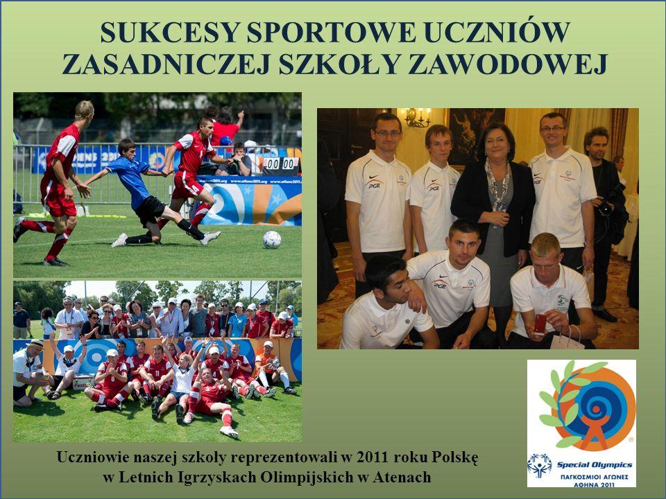 SUKCESY SPORTOWE UCZNIÓW ZASADNICZEJ SZKOŁY ZAWODOWEJ Uczniowie naszej szkoły reprezentowali w 2011 roku Polskę w Letnich Igrzyskach Olimpijskich w At