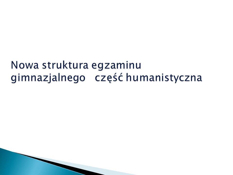 Język polski – zadania zamknięte lub zadania otwarte – w tym dłuższa wypowiedź pisemna.