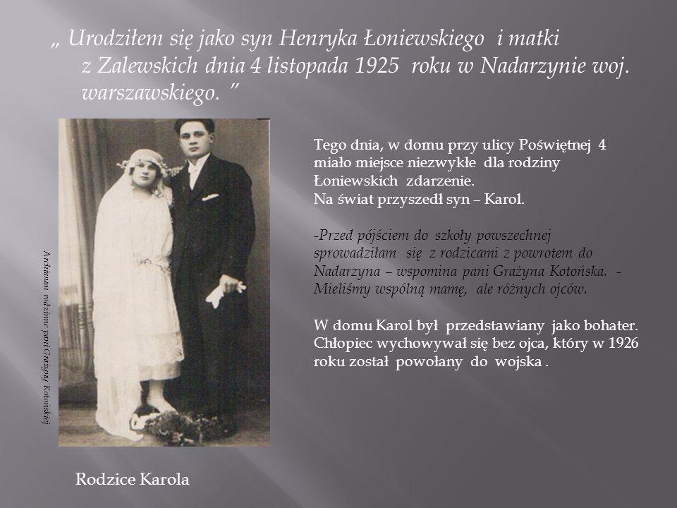 Karol z narzeczoną, 1947 r.Karol z uratowanym przez siebie Żydem, 1943 r.
