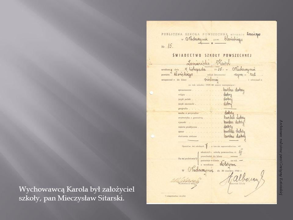 19 września 1944 roku dostałem się do obozu - Modlin, gdzie przebywałem do Bożego Narodzenia.