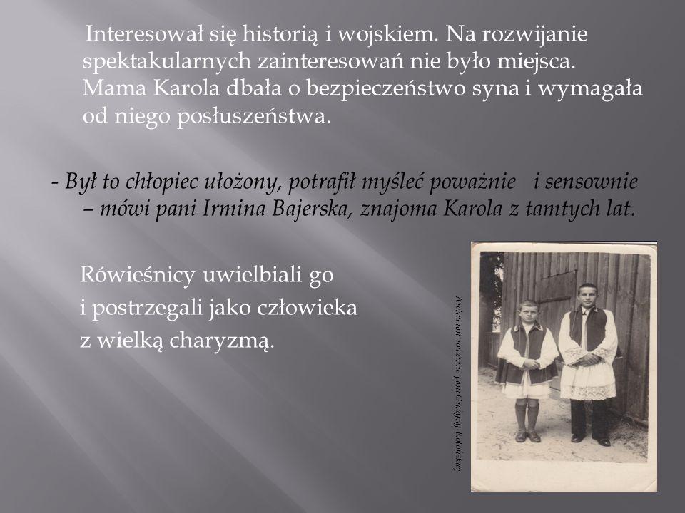 Bibliografia: -Dokumenty, zdjęcia, listy pochodzą z prywatnego archiwum pani Grażyny Kotońskiej -Praca zbiorowa, Przewodnik po Muzeum Powstania Warszawskiego, Warszawa 2007 r.