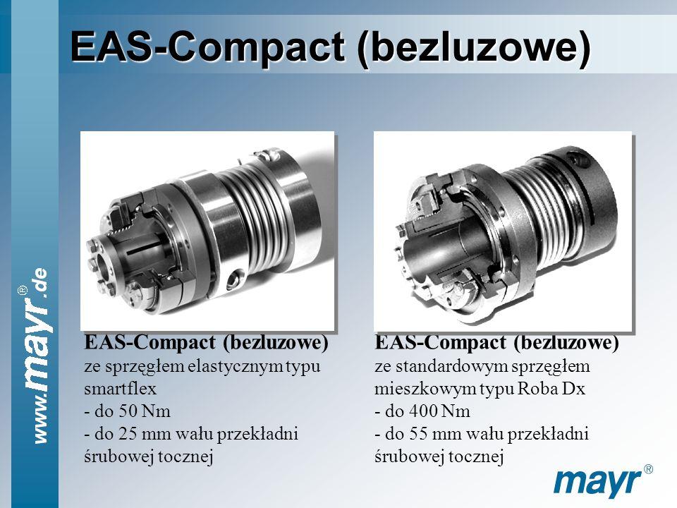 EAS-Compact (bezluzowe) Idealne sprzęgło przeciążeniowe (bezpieczeństwa) zapobiegające awariom spowodowanym przez kolizję