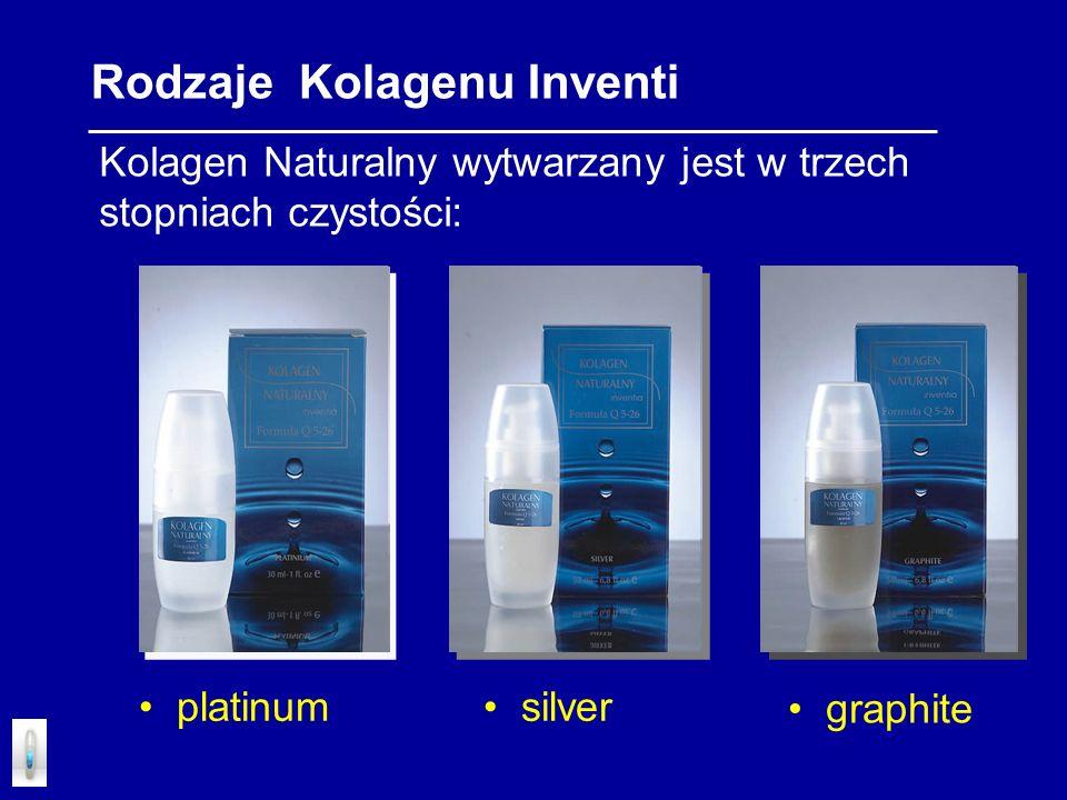 Kolagen Naturalny wytwarzany jest w trzech stopniach czystości: Rodzaje Kolagenu Inventi platinum silver graphite