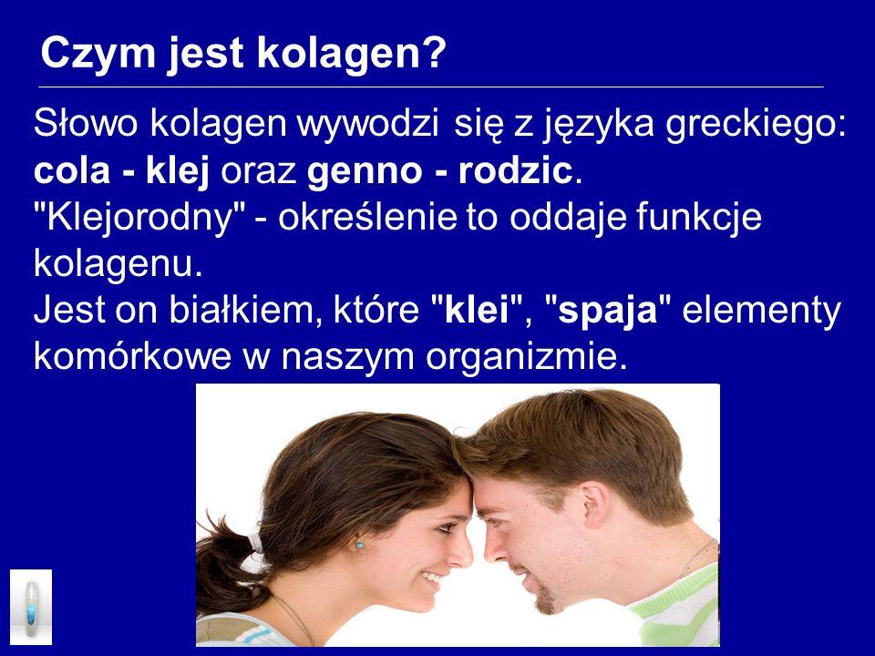 Czym jest kolagen? Słowo kolagen wywodzi się z języka greckiego: cola - klej oraz genno - rodzic.