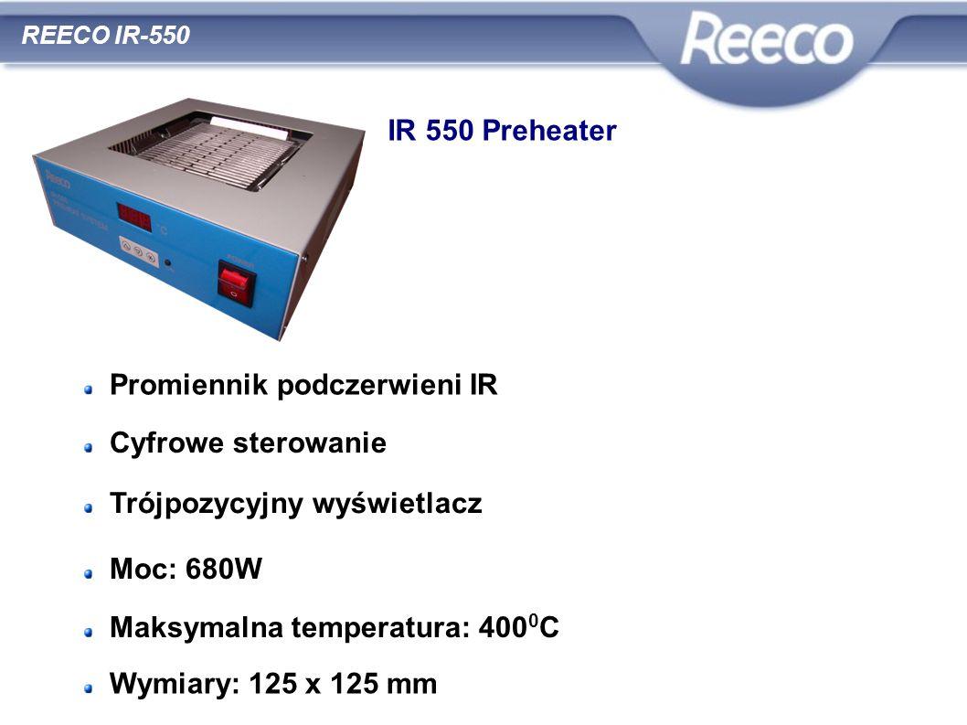 wysoka jakość atrakcyjna cena zgodność z CE i RoHS REECO IR-550 IR 550 Preheater Promiennik podczerwieni IR Cyfrowe sterowanie Trójpozycyjny wyświetla
