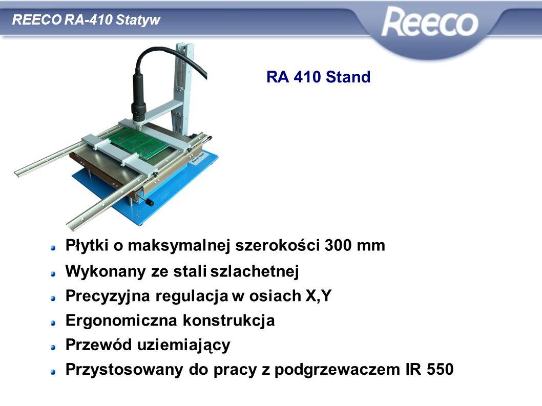 wysoka jakość atrakcyjna cena zgodność z CE i RoHS REECO RA-410 Statyw RA 410 Stand Płytki o maksymalnej szerokości 300 mm Wykonany ze stali szlachetn