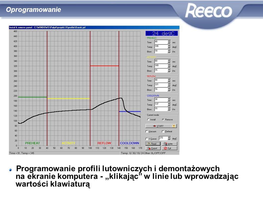 wysoka jakość atrakcyjna cena zgodność z CE i RoHS Programowanie profili lutowniczych i demontażowych na ekranie komputera - klikając w linie lub wpro
