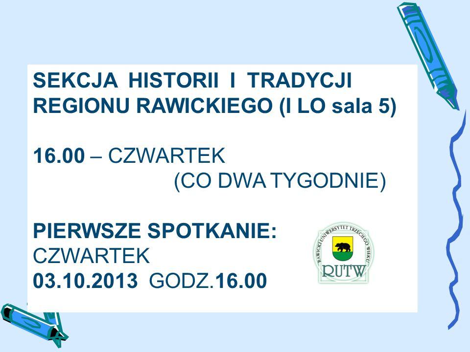 04.10.2013 – PIĄTEK (SALA ZSZ) 15.15 – REKREACJA RUCHOWA (P. CHORZĘPA)