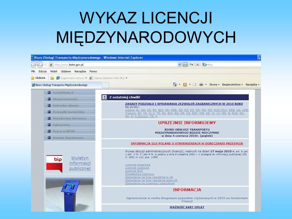 INFOMAT http://gitd.gov.pl/botm/index.php