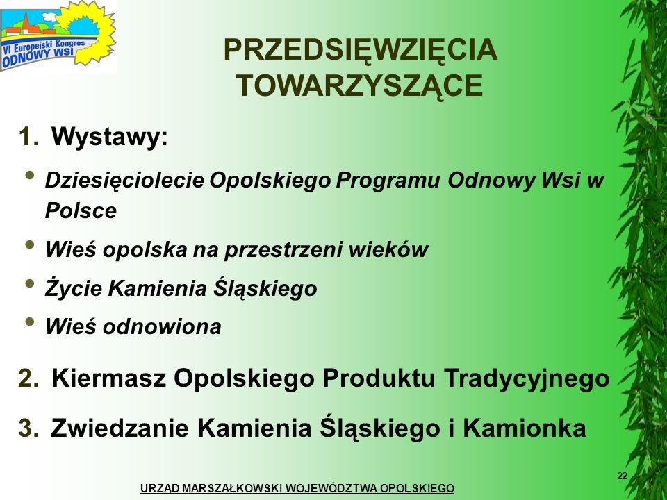 URZĄD MARSZAŁKOWSKI WOJEWÓDZTWA OPOLSKIEGO 22 PRZEDSIĘWZIĘCIA TOWARZYSZĄCE Dziesięciolecie Opolskiego Programu Odnowy Wsi w Polsce Wieś opolska na prz
