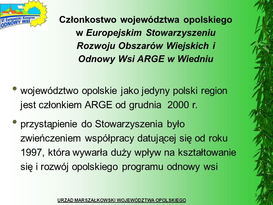 URZĄD MARSZAŁKOWSKI WOJEWÓDZTWA OPOLSKIEGO 4 VI Europejski Kongres Odnowy Wsi VI Europejski Kongres Odnowy Wsi odbędzie się w województwie opolskim, które w 1997 roku zainicjowało proces odnowy wsi Jubileusz 10- lecia odnowy wsi w Polsce i województwie opolskim ma miejsce w momencie rozpoczęcia kolejnego etapu wspierania rozwoju obszarów wiejskich przez Unię Europejską w latach 2007 – 2013 w 2007 roku przypada 20 rocznica organizacji I Europejskiego Kongresu Odnowy Wsi (1987 Krems, Dolna Austria)