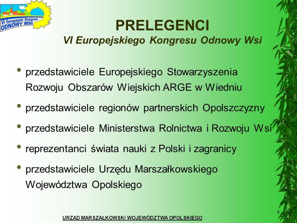 URZĄD MARSZAŁKOWSKI WOJEWÓDZTWA OPOLSKIEGO 8 przedstawiciele Europejskiego Stowarzyszenia Rozwoju Obszarów Wiejskich ARGE w Wiedniu przedstawiciele re