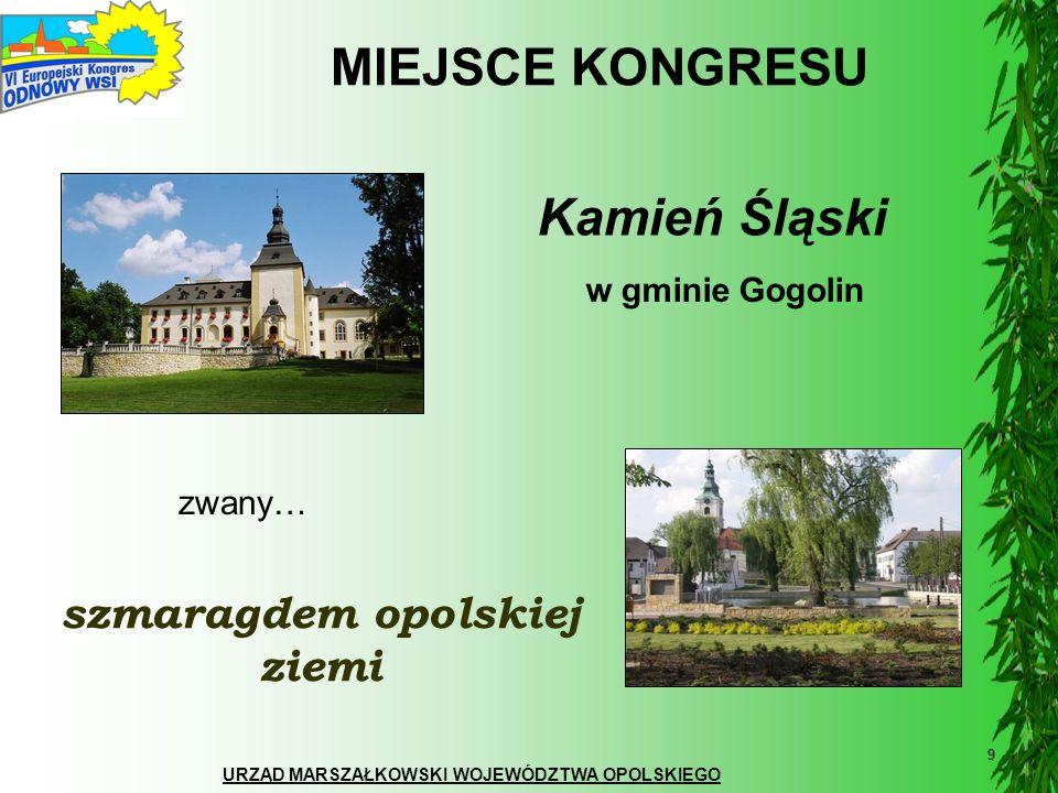 URZĄD MARSZAŁKOWSKI WOJEWÓDZTWA OPOLSKIEGO 30 Dziękuję za uwagę Kontakt: ADELA SIKORA Biuro VI Europejskiego Kongresu Odnowy Wsi tel./fax.: (+48) 77 5416440 e-mail: a.sikora@umwo.opole.pl