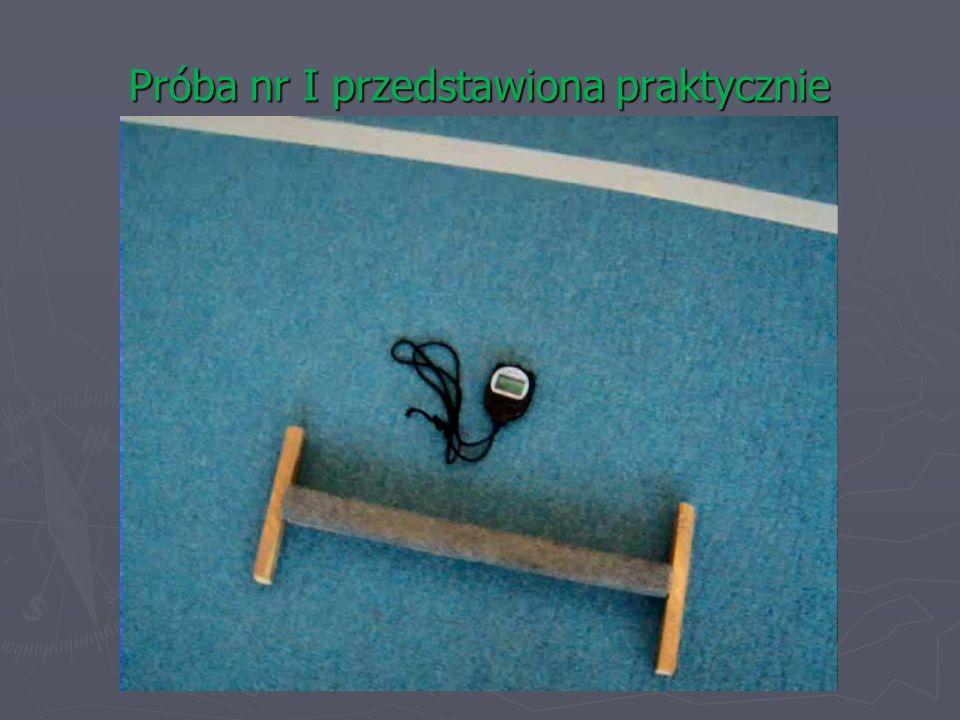 Próba II – szybkość ruchów kończyny górnej Sprzęt i pomoce.
