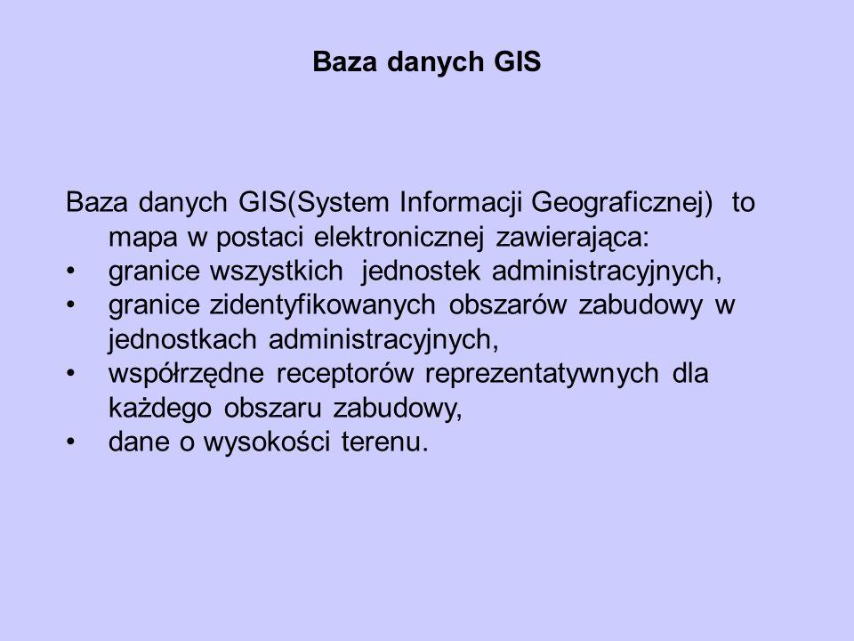 Baza danych GIS Baza danych GIS(System Informacji Geograficznej) to mapa w postaci elektronicznej zawierająca: granice wszystkich jednostek administra