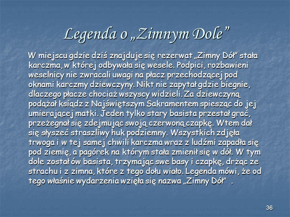 35 O Miłosówce i Kochance z Dolinki Mnikowskiej Za panowania króla Zygmunta Augusta Dolina Mnikowska była odwiedzana przez samego władcę wraz ze swoją