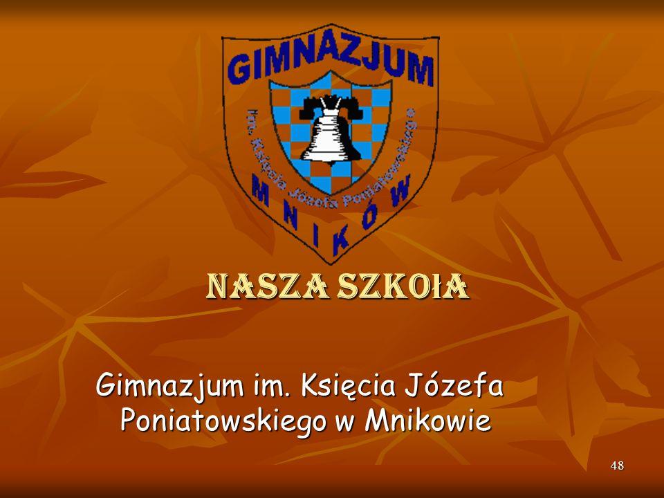 47 Ludmiła Tarnowska Córka Olgi i Franciszka Blecharskich. Kierowała szkołą w Mnikowie w latach 1969 – 1973. W czasie sprawowania przez nią kierownict