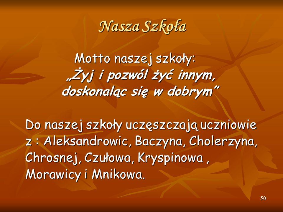 49 Nasze Gimnazjum powołano w dniu 11 marca 1999 roku uchwałą Rady Gminy Liszki. Siedzibę ustanowiono w miejscowości Mników, położonej u wylotu piękne