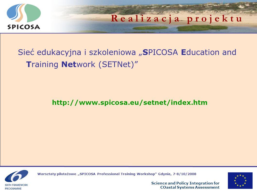 Warsztaty pilotażowe SPICOSA Professional Training Workshop