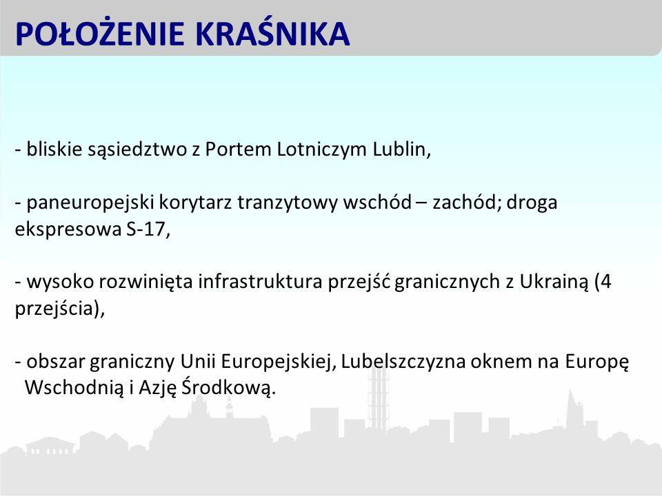 - bliskie sąsiedztwo z Portem Lotniczym Lublin, - paneuropejski korytarz tranzytowy wschód – zachód; droga ekspresowa S-17, - wysoko rozwinięta infras