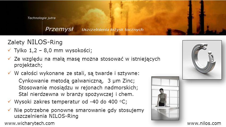 Zalety NILOS- Ring Tylko 1,2 – 8,0 mm wysokości; Ze względu na małą masę można stosować w istniejących projektach; W całości wykonane ze stali, są twa