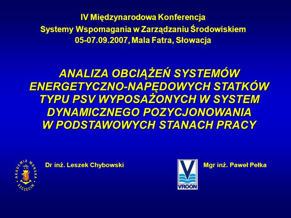 IV Międzynarodowa Konferencja Systemy Wspomagania w Zarządzaniu Środowiskiem 05-07.09.2007, Mala Fatra, Słowacja Dr inż. Leszek ChybowskiMgr inż. Pawe