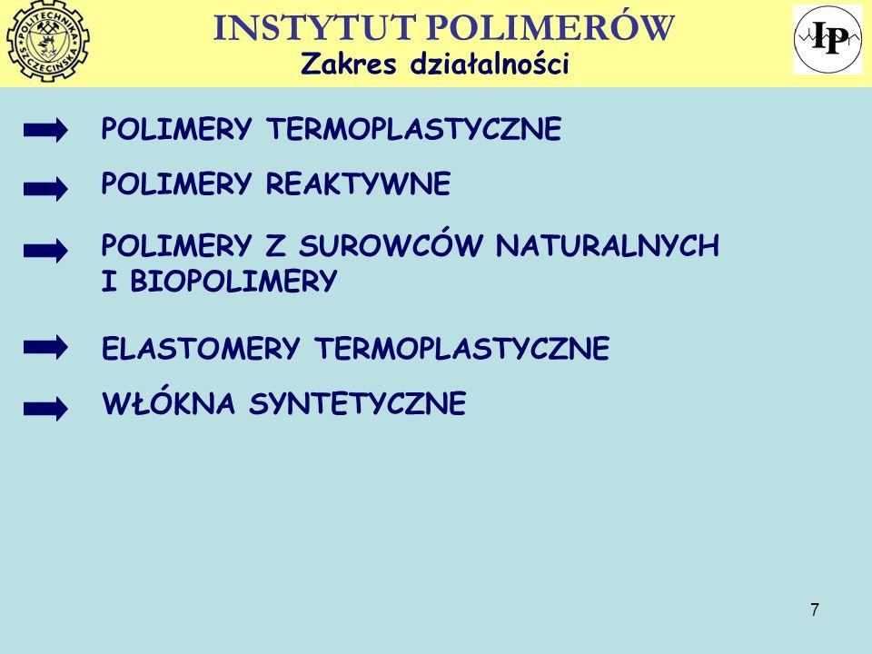 8 Zakład Technologii Materiałów Polimerowych Czym się zajmujemy.