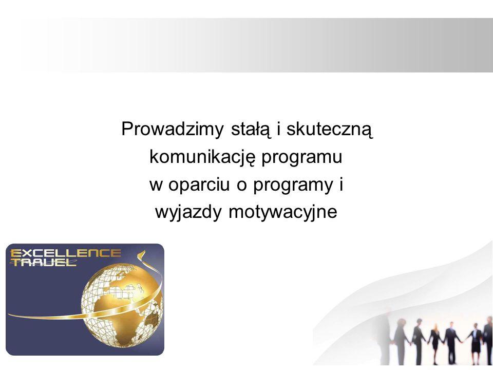 Prowadzimy stałą i skuteczną komunikację programu w oparciu o programy i wyjazdy motywacyjne