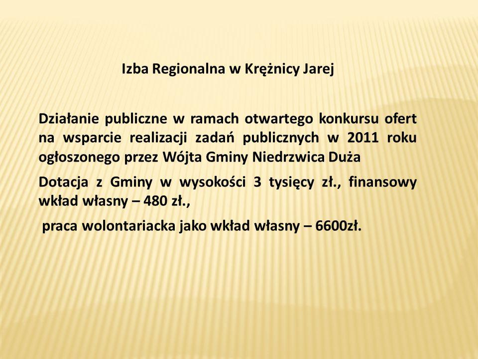 Izba Regionalna w Krężnicy Jarej Działanie publiczne w ramach otwartego konkursu ofert na wsparcie realizacji zadań publicznych w 2011 roku ogłoszoneg