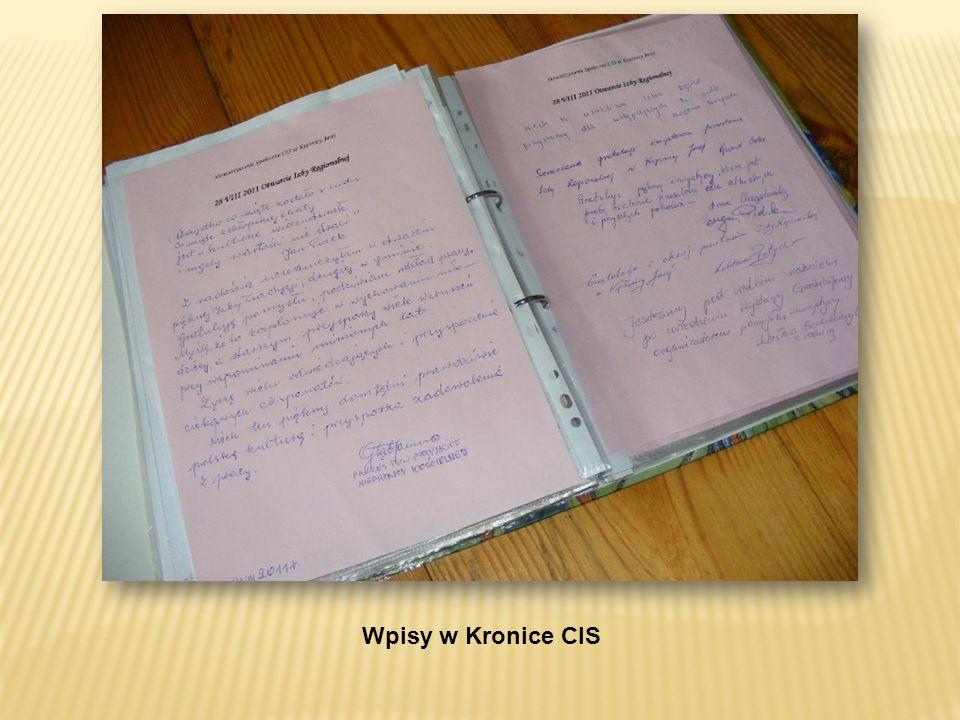 Wpisy w Kronice CIS