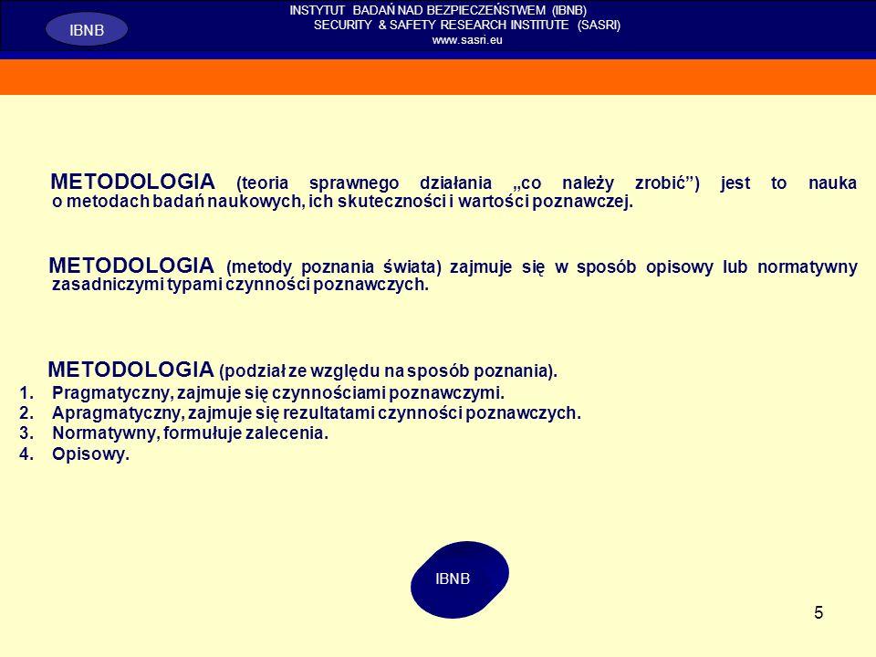5 METODOLOGIA (teoria sprawnego działania co należy zrobić) jest to nauka o metodach badań naukowych, ich skuteczności i wartości poznawczej. METODOLO