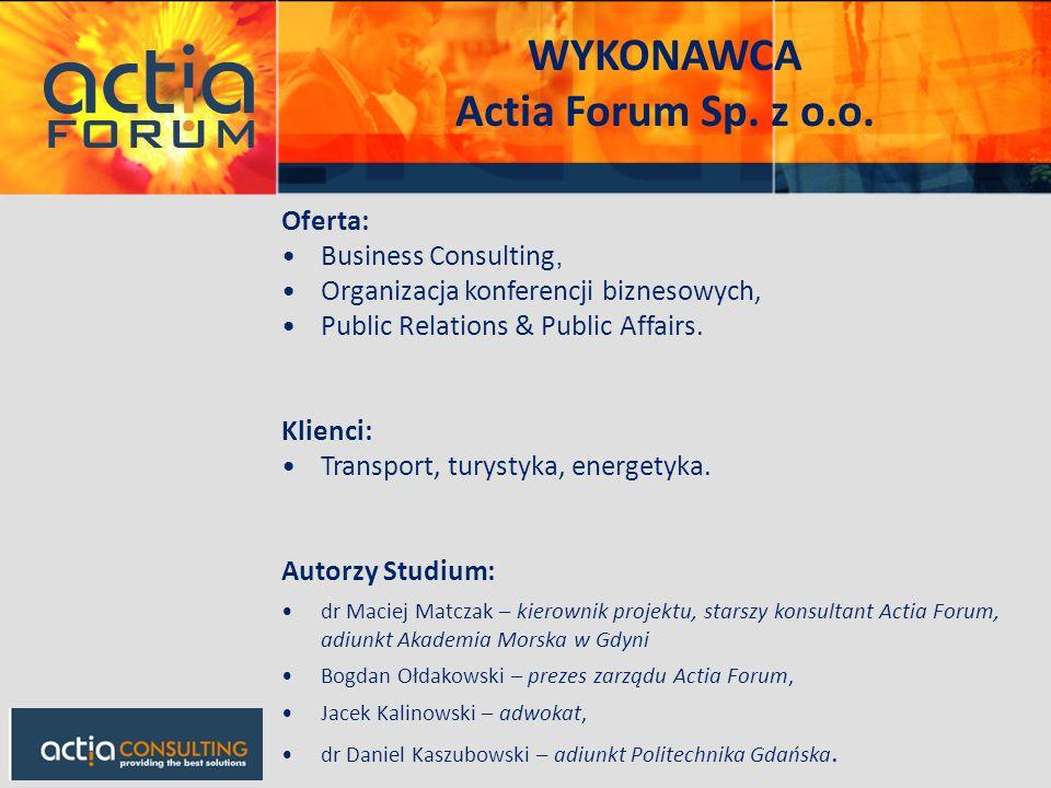 Oferta: Business Consulting, Organizacja konferencji biznesowych, Public Relations & Public Affairs. Klienci: Transport, turystyka, energetyka. Autorz