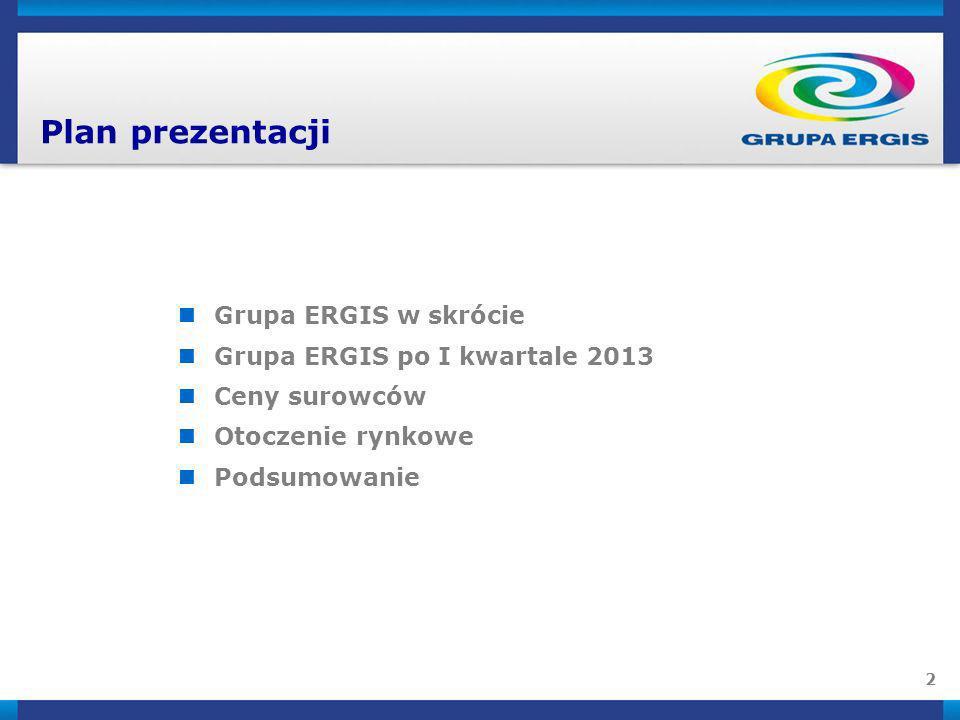13 Cel na 2013 Koncentracja na wykorzystaniu przewagi konkurencyjnej, uzyskanej dzięki inwestycji w linię do produkcji trzydziestotrzywarstwowej folii stretch nanoERGIS w Oławie oraz obniżeniu kosztów produkcji w Berlinie