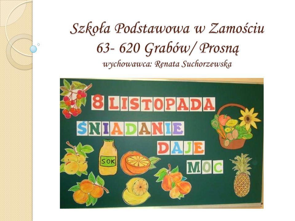 Szkoła Podstawowa w Zamościu 63- 620 Grabów/ Prosną wychowawca: Renata Suchorzewska