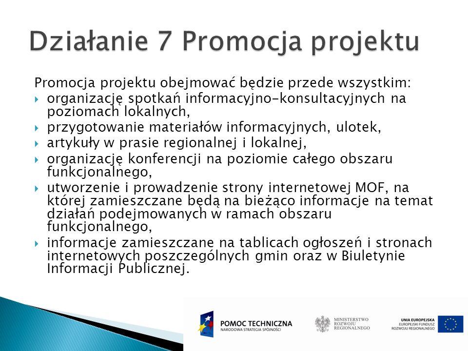 Promocja projektu obejmować będzie przede wszystkim: organizację spotkań informacyjno-konsultacyjnych na poziomach lokalnych, przygotowanie materiałów