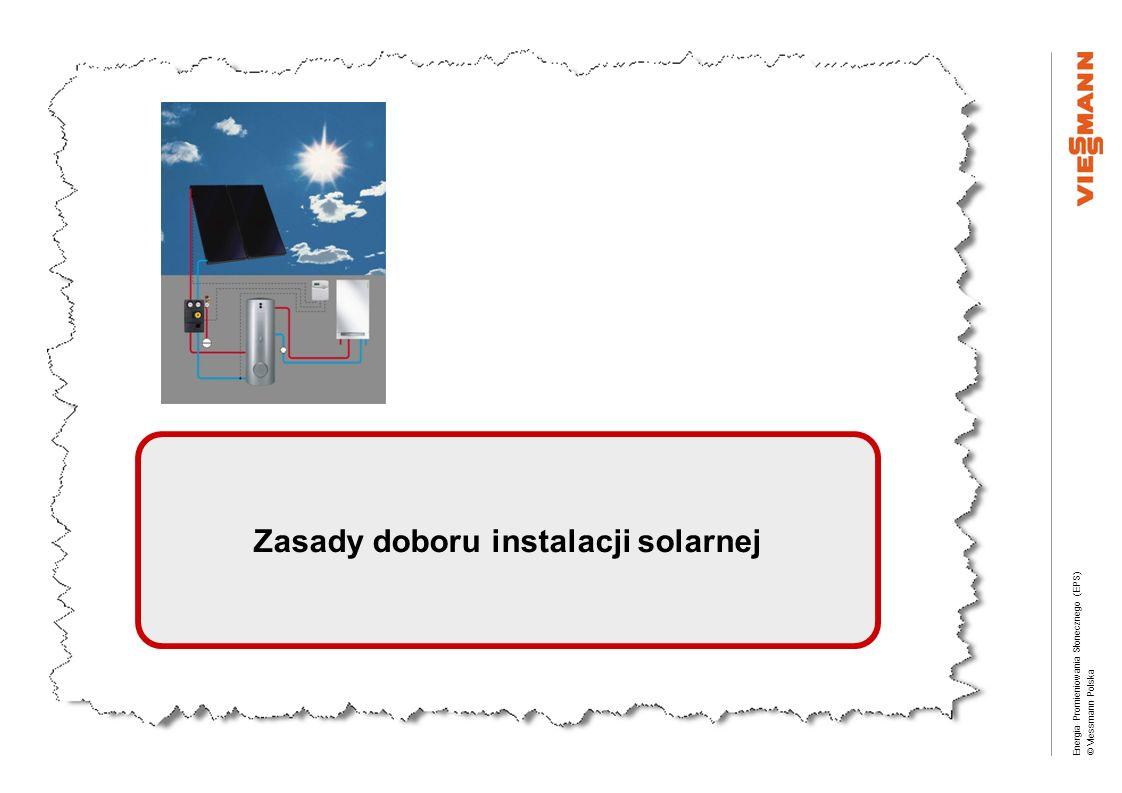 Energia Promieniowania Słonecznego (EPS) © Viessmann Polska Zasady doboru instalacji solarnej