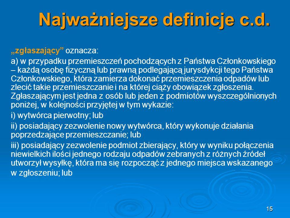 Najważniejsze definicje c.d.