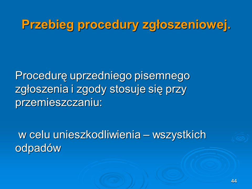 44 Przebieg procedury zgłoszeniowej.