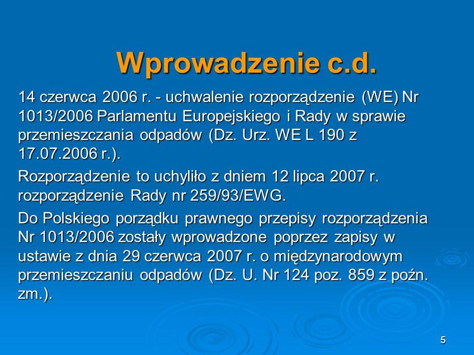 Wprowadzenie c.d.14 czerwca 2006 r.