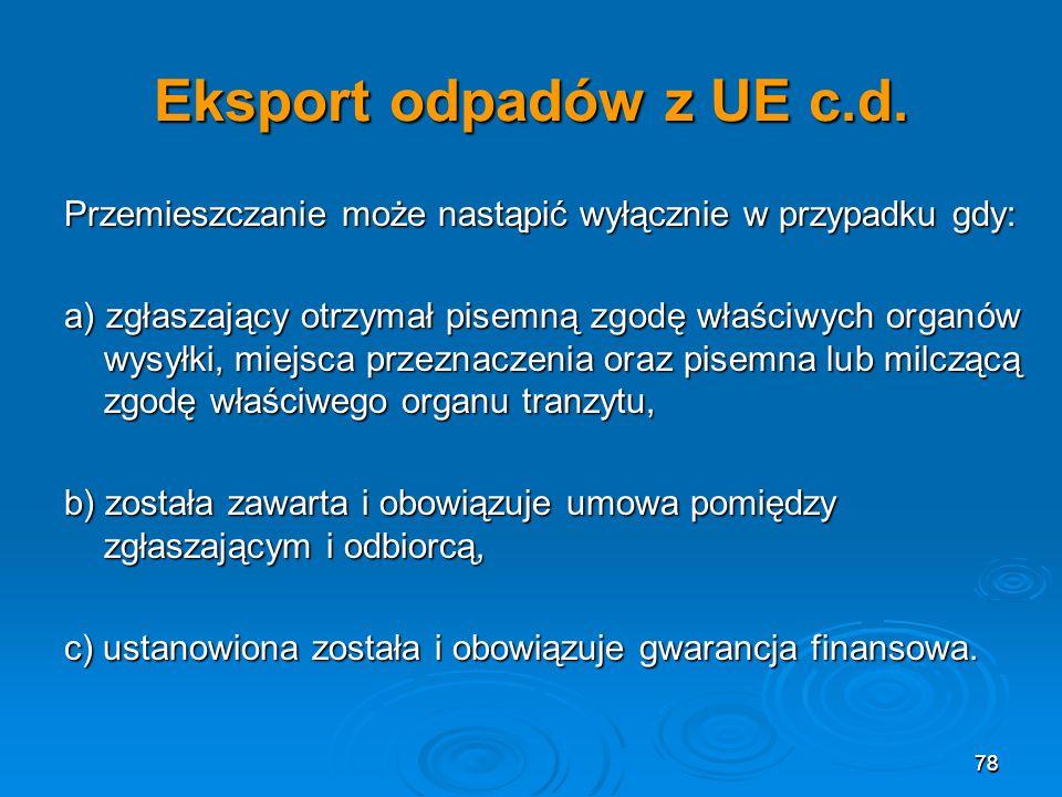 78 Eksport odpadów z UE c.d.