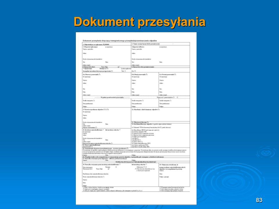 Dokument przesyłania 83