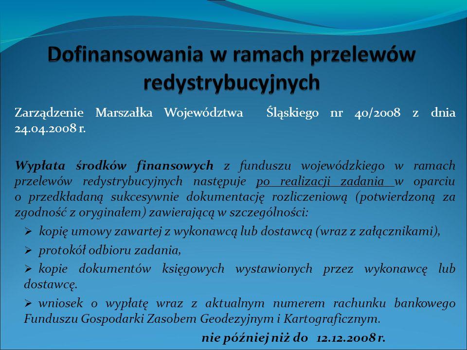 Sieć cieków Stan realizacji Bazy Danych Obiektów Topograficznych w woj. śląskim