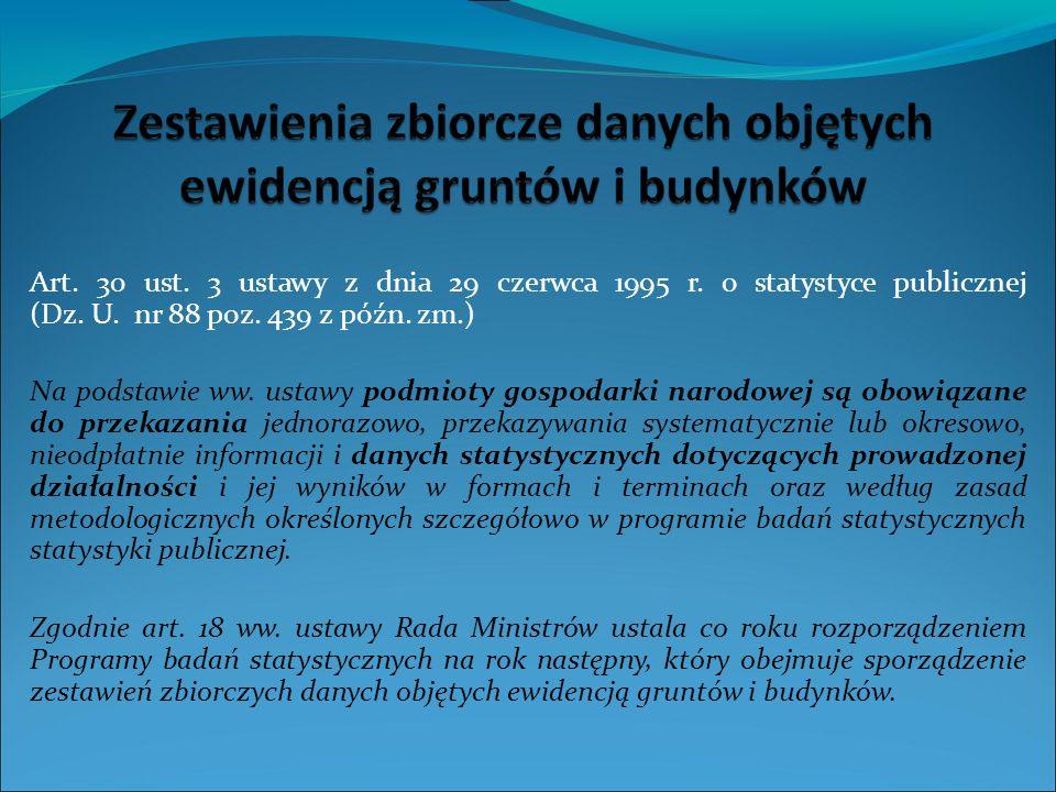 Art.30 ust. 3 ustawy z dnia 29 czerwca 1995 r. o statystyce publicznej (Dz.