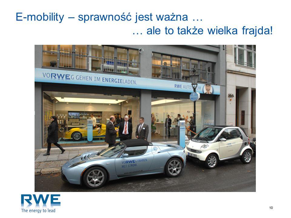 10 E-mobility – sprawność jest ważna … … ale to także wielka frajda!